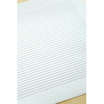 size of writing paper